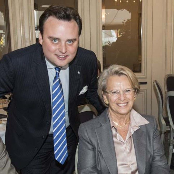 Michele Alliot-Marie en el Club des Leaders de Ginebra