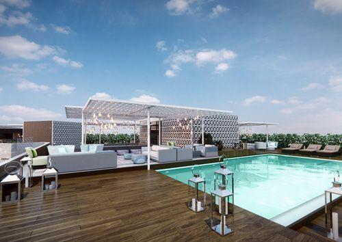 Terraza Vi Cool Hotel Aguas de Ibiza Piscina