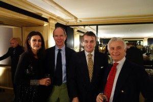 Cristina Macaya, S.A.R. le Prince Michel de Yougoslavie, Francesco Moncada et Maurizio Paterno di Montecupo