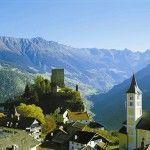 Vista de un pueblo del Tirol