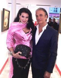 Lamia Kashoggi y Alberto Bertti