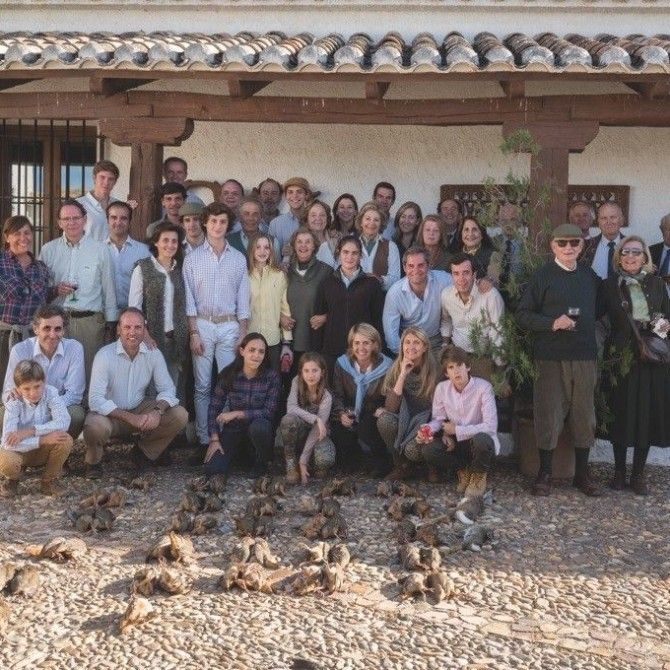 Cacería de perdices de la familia Muñoz Martín-Bourgon en la Casa del Aire