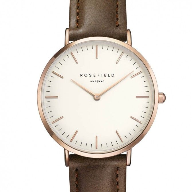 El reloj Bowery Chocolate de Rosefield