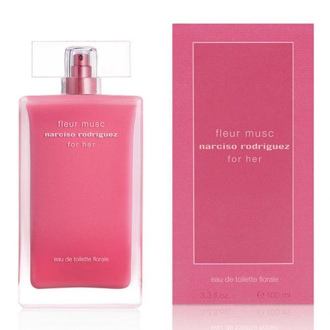 For her fleur musc eau de toilette florale, la seductora fragancia de Narciso Rodriguez